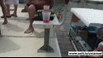 public teen nudity at outdoors party