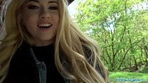 Public Agent Hot blonde student fucked doggy style in forest for cash Preview