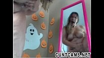 Girl Gets off After Trick or Treaters Leave - More at cuntcams.net