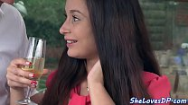 DP loving babe gets anally doggystyled