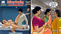 Velamma Episode 68 - Railway Coupling – Running a Train on Velamma