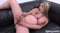 Pregnant Katerina Fucks Herself with Her New Vibrator!