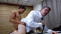 Daddy and Asian Twink Fuck Bareback