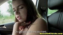Big titted hitch hiking teen loves cock