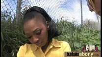 Ebony gets fucked in all holes by a group of white dudes 7