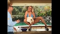 Curvacious blonde chick Calli Cox agrees to shave her pussy on cam but she prefers hard cock ponding instead of using aftershave gel