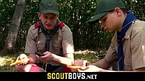 Two hot twink boyscouts anal sex in camping tent-SCOUTBOYS.NET