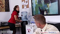 Brunette babe Francesca Lee gets nailed in the office