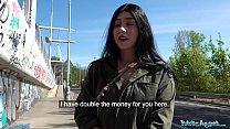 Public Agent Cash tempts busty American Amilia ...