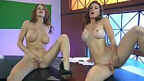 Emily Addison & Heather Vandeven - Naked News thumb