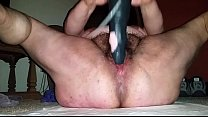 Screenshot fat chick from  BBWCurvy rides dildo dildo