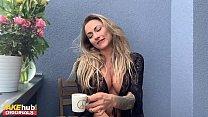 FAKEhub Stunning Blonde Michaela Isizzu Masturbates on her Balcony