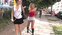 Czech blonde in bondage public fucked