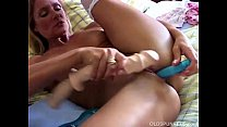 Super sexy old spunker in stockings fucks her soaking wet pussy thumbnail