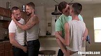 Gay Dad And Sons- Gangbang