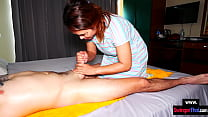 Handjob massage from amateur Asian MILF who got recorded on camera