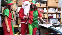 Santas little elfs are two teen thieves who get caught