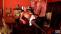 Busty French Maid goes crazy for her Bosses Big Dick! صورة