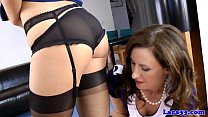 Download video bokep Classy british milf in uniform with babe 3gp terbaru