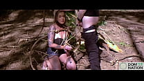 Submissive hottie Rory Knox gets tied to a tree...