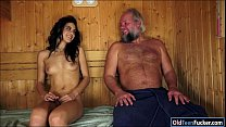 Spanish Carolina Abril suck off old cock eats a...'s Thumb