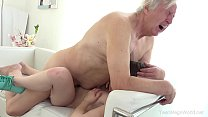 Old-n-Young.com - Luna Rival - Old man makes sweetie kneel thumbnail