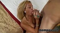 big tit milf fucks two young cocks Vorschaubild