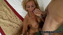 big tit milf fucks two young cocks صورة