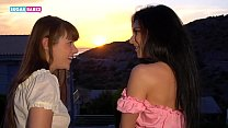 SUGARBABESTV: Inna Innaki and Luna Rival in my first French kiss