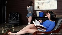 Lesbians anal toys cleaning lady