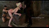 Blonde immobilized on bondage device thumbnail