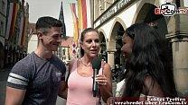 German black amateur student teen at porn castin on street
