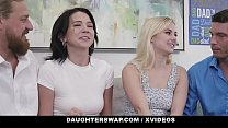 DaughterSwap - (Aria Banks) (Riley Jean) Eating Each Other Out To Please Daddies On Fathers Day