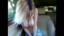 Perfect natural tits. Sexy blonde camgirl titties - HotFallingDevil.com image