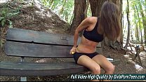 Sex Avia mature fingers banana pussy in the forest thumbnail