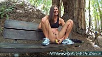 Sex Avia mature fingers banana pussy in the forest video