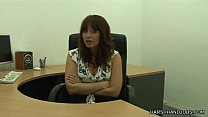 Renee Richards giving a harsh handjob