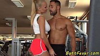 Bigtit babe assfucked instead of working out