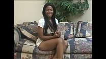 Gorgeous black beauty Caren Caan with big jugs is paddling the pink canoe
