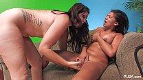 chubby teen slut ‣ Alison Tyler Lesbian XXX thumbnail