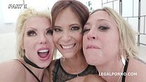 Outnumbered both way Pee Edition #1 With Syren De Mer, Dee Williams and Barbie Sins DAP, Pee, Creampie GIO1061