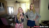 Sleazy dad pays daughter and her friend to get ...