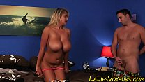 Busty femdom babe watches Preview