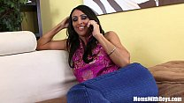 Horny MILF Raven Black Sticking A BBC Into Her Pussy