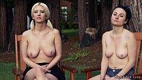Evil redneck tied up and tormented blonde