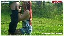 Chubby german redhead blowjob and banged outdoor Vorschaubild