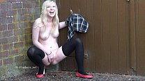 Blonde voyeur babes outdoor masturbation and public nudity of fingering amateur