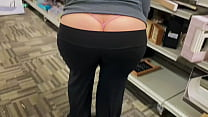 Mom Out In Public Shopping with a Fat Booty Whale Tail