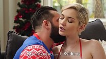 PASSION-HD Busty Blonde Gives Christmas Gift Every Man Wants