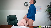 Hot blonde Brooklyn Chase fucks in the office Preview